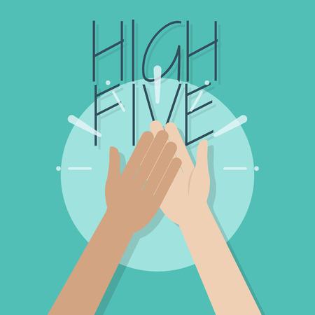 Ilustración de High Five Illustration. Two Hands Clapping - Imagen libre de derechos