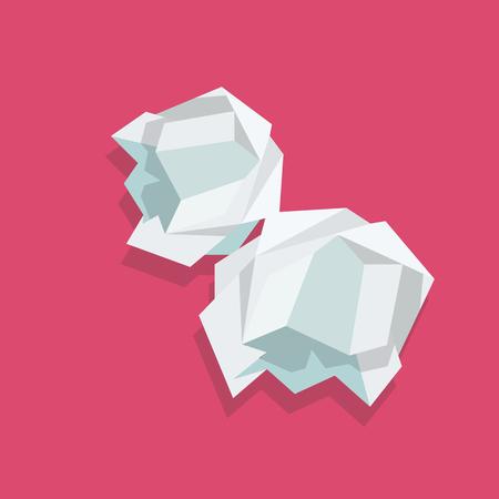 Illustration pour Crumpled paper ball. Vector illustration - image libre de droit