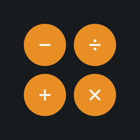Illustration pour Calculater interface buttons. Vector illustration - image libre de droit