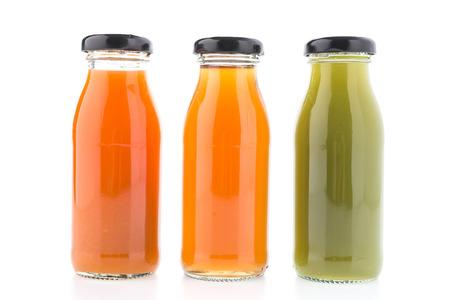 Photo pour Juice bottle isolated on white background - image libre de droit