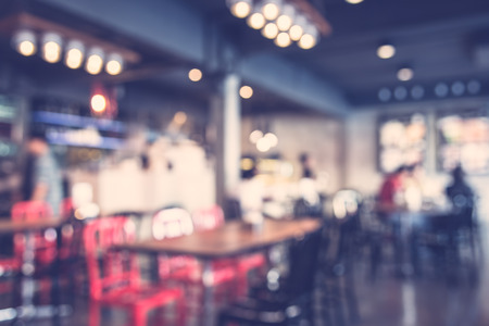 Photo for Abstract blur restaurant background - vintage filter - Royalty Free Image