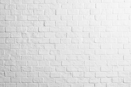 White concrete brick wall textures background