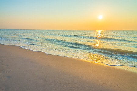 Sunrise on the beach - vintage filter