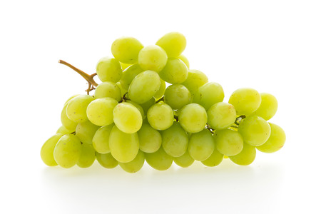 Foto für Green grape fruit isolated on white background - Lizenzfreies Bild