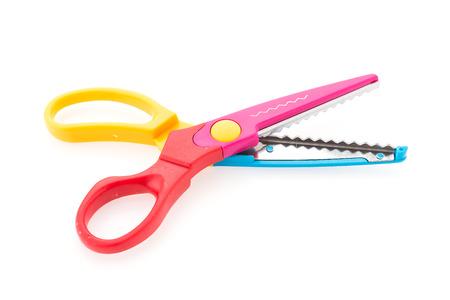Zigzag scissors isolated on white background