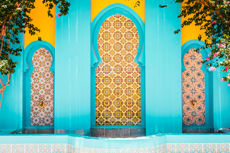Morocco architecture style - vintage filter effect