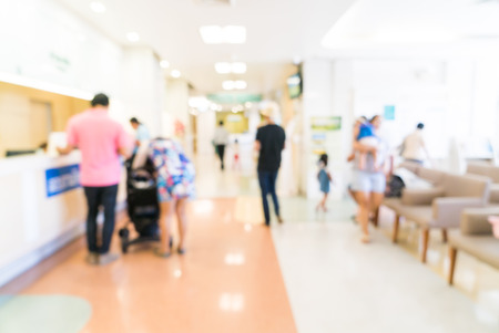 Photo pour Abstract blur hospital background - image libre de droit