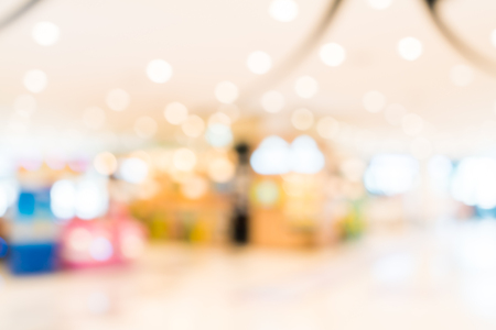 Abstract blur shopping mall interior background