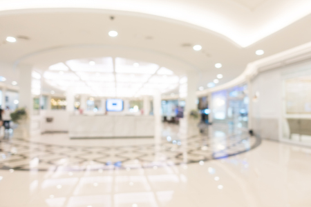 Abstract blur and defocused shopping mall of derpartment store interior for background