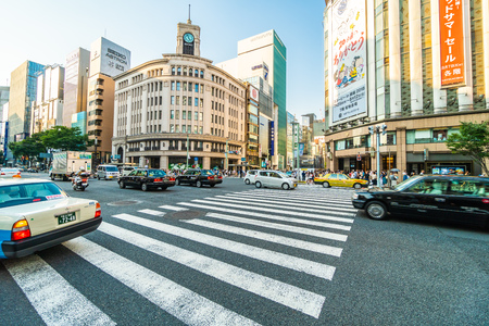 TOKYO JAPAN - 1 AUG 2018 : Ginza area is the best luxury shopping mall and department store in tokyo japan