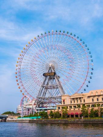 Photo for Ferris wheel in amusement park around yokohama city japan - Royalty Free Image