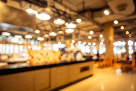 Photo pour Abstract blur and defocused restaurant and coffee shop interior for background - Vintage Filter - image libre de droit