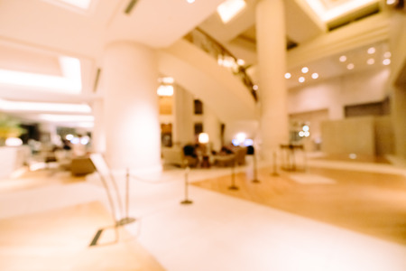 Photo pour Abstract blur and defocused hotel and lobby interior for background - image libre de droit