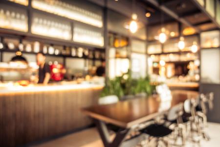 Photo pour Abstract blur coffee shop cafe interior for background - image libre de droit