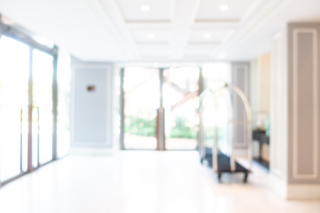Photo pour Abstract blur and defocused hotel lobby and hall interior for background - image libre de droit
