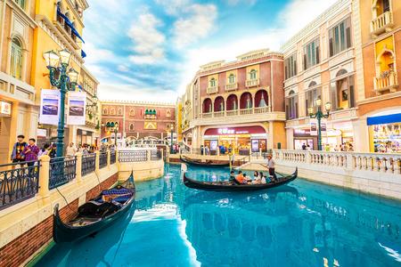 Foto für China, Macau - September 8 2018 - Beautiful luxury venetian hotel resort and casio with shopping mall in macau city - Lizenzfreies Bild