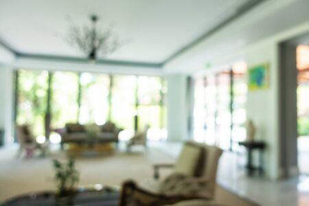 Foto de Abstract blur and defocused hotel lobby and hall interior for background - Imagen libre de derechos