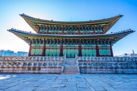 Foto für Beautiful architecture building Gyeongbokgung palace in Seoul South Korea - Lizenzfreies Bild