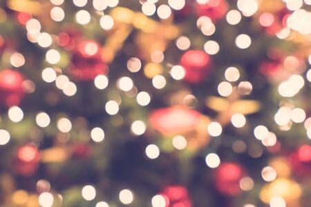 Photo pour Abstract blur and defocused bokeh christmas light for background - image libre de droit