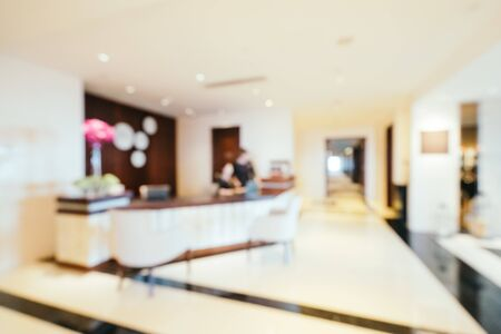 Photo pour Abstract blur and defocused hotel lobby lounge interior for background - image libre de droit