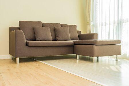 Photo pour Pillow on sofa decoration interior of living room area - image libre de droit