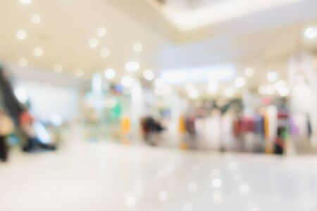 Photo pour Abstract blur and defocus shopping mall in department store interior for background - image libre de droit