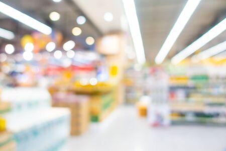 Foto für Abstract blur and defocus supermarket and shopping mall of department store interior for background - Lizenzfreies Bild