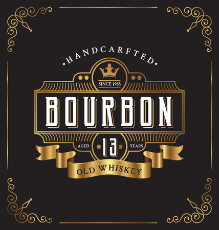 Vintage frame label design. Suitable for Whiskey and Wine label, Restaurant, Beer label.