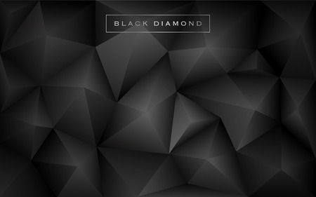 Illustration pour Abstract black diamond polygon background. Luxury low poly wallpaper design. Vector illustration - image libre de droit