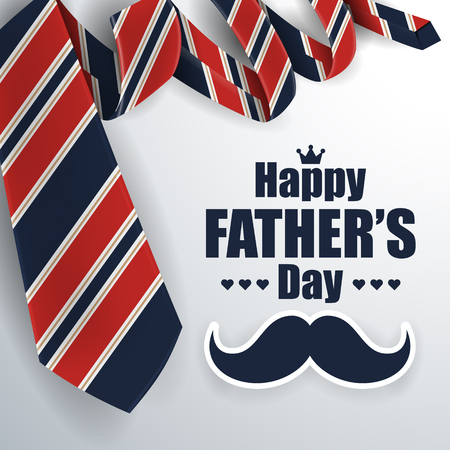 Illustration pour Father's Day Greeting Card Background Design with Necktie. Vector illustration - image libre de droit