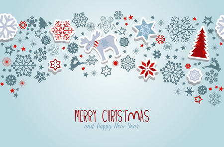 Foto de Merry Christmas. Blue Christmas vector elements. - Imagen libre de derechos