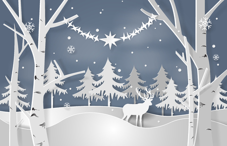 Christmas concept vector illustration.のイラスト素材