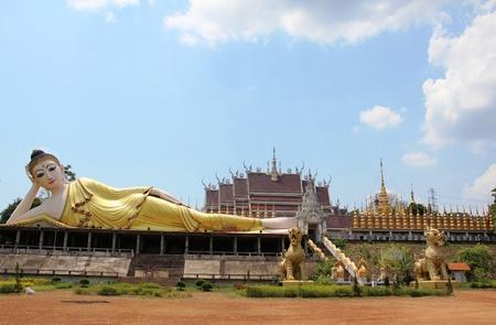 Declining buddha, Phrae, Thailand