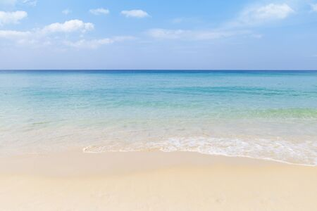 Beautiful summer beach, outdoor day light, empty clean beach in South of Thailand, holiday and vacation destination to Asia