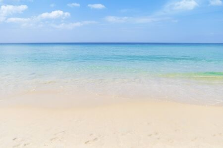 Photo for Clear sea water on clean beach, tropical island, summer outdoor day light - Royalty Free Image
