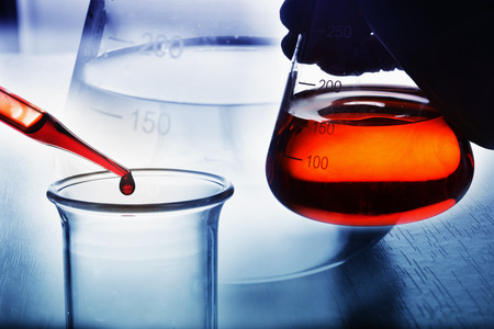 Photo for chemical research at science lab - Royalty Free Image