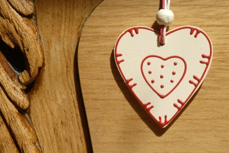 rustic heart heart hung on wooden door