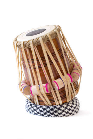 tabla indian drum against a white background.