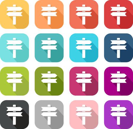 Illustration pour Colored icons of a panel - image libre de droit