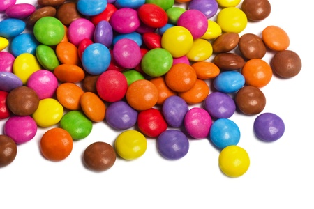 multi colored smarties candy