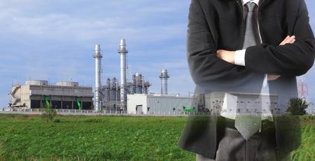 Photo pour eco green factory concept - image libre de droit