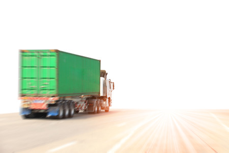Photo for Truck run on road, Drive on road, transportation logistics concept - Royalty Free Image