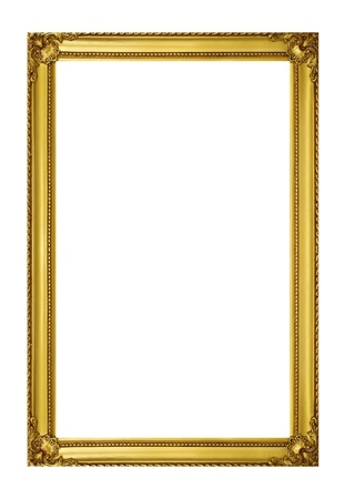 Photo for Golden frame isolated on white background - Royalty Free Image