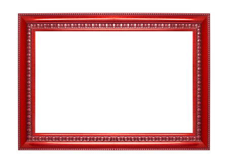 Photo for Red frame isolated on white background - Royalty Free Image