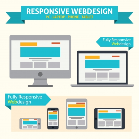 Illustration for Responsive Web Design - Royalty Free Image