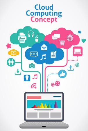 Illustration pour Cloud Computing concept  - image libre de droit