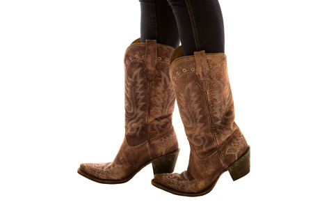 Close up of pair of cowboy boots