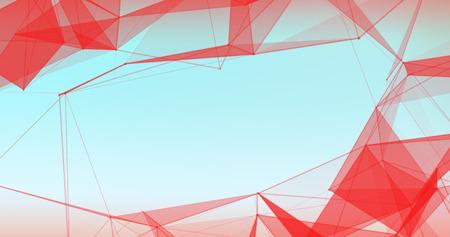 Foto de Abstract Plexus Background. Hi Tech Digital poligons texture. - Imagen libre de derechos