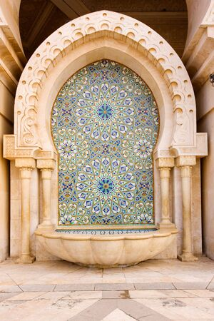 Mosaic and Fountain, Morocco
