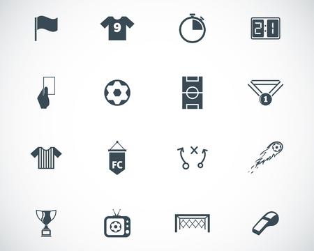 Ilustración de Vector black  soccer  icons set - Imagen libre de derechos